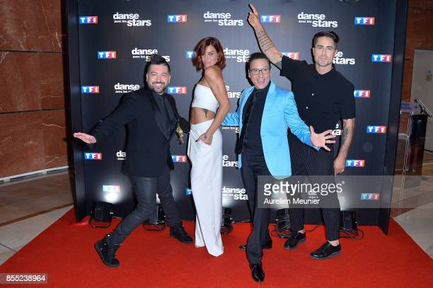 Chris Marquez Fauve Hautot Jean Marc Genereux and Nicolas Archambault attend the 'Danse avec les Stars' photocall at TF1 on September 28 2017 in...