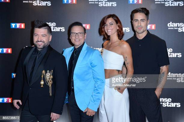 Chris Marquez Jean Marc Genereux Fauve Hautot and Nicolas Archambault attend the 'Danse avec les Stars' photocall at TF1 on September 28 2017 in...