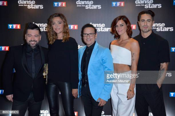 Chris Marquez Sandrine Quetier Jean Marc Genereux Fauve Hautot and Nicolas Archambault attend the 'Danse avec les Stars' photocall at TF1 on...