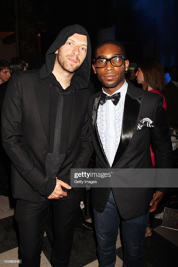 Chris Martin and Tinie Tempah attend the Keep A Child Alive Black Ball at held at St John's, Smith Square on May 27, 2010 in London, England.