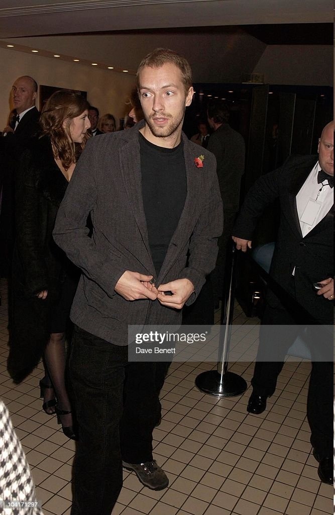Chris Martin (coldplay) Arrives After Gwyneth Paltrow, Sylvia Movie After Party At Mezzo In Wardour Street, London