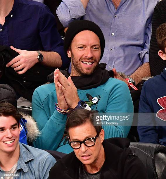 Chris Martin attends Golden State Warriors Vs Brooklyn Nets game at Barclays Center on December 22 2016 in New York City