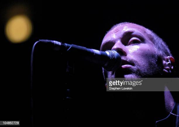 Chris Martin during Coldplay 'A Rush of Cold Blood to the Head' Tour at Madison Square Garden in New York City New York United States