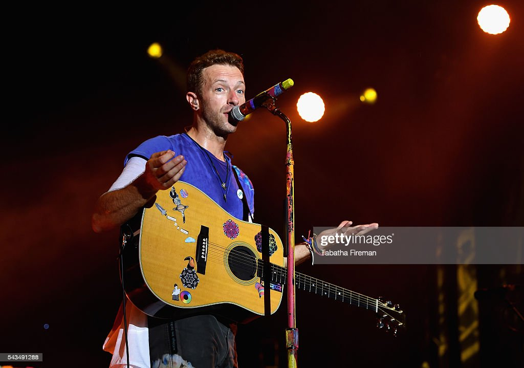 <a gi-track='captionPersonalityLinkClicked' href=/galleries/search?phrase=Chris+Martin+-+Musician&family=editorial&specificpeople=4468181 ng-click='$event.stopPropagation()'>Chris Martin</a> from Coldplay performs on stage during the Sentebale Concert at Kensington Palace on June 28, 2016 in London, England. Sentebale was founded by Prince Harry and Prince Seeiso of Lesotho over ten years ago. It helps the vulnerable and HIV positive children of Lesotho and Botswana.