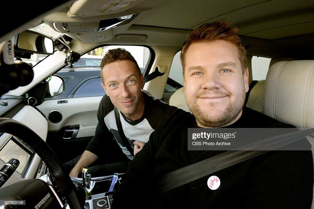 Chris Martin joins James Corden for Carpool Karaoke on 'The Late Late Show with James Corden' airing the week of February 1st on The CBS Television...