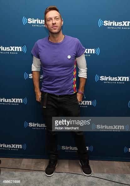 Chris Martin of Coldplay visits at SiriusXM Studios on November 24 2015 in New York City