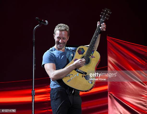 Chris Martin performs onstage at the 2016 Global Citizen Festival to End Extreme Poverty by 2030 at Central Park on September 24 2016 in New York City
