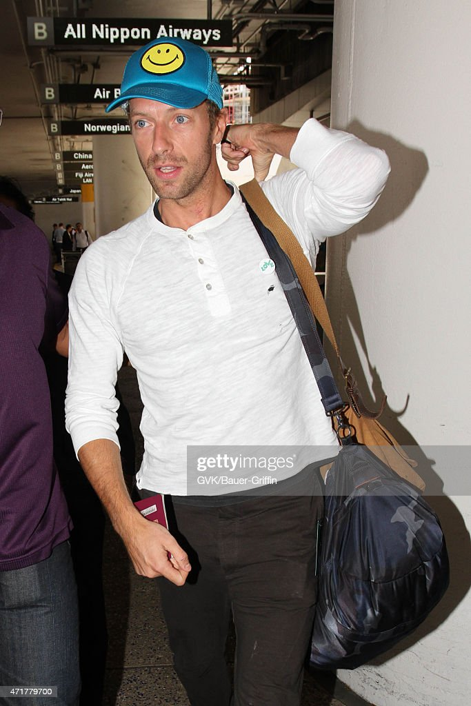 Chris Martin seen at LAX on April 30 2015 in Los Angeles California
