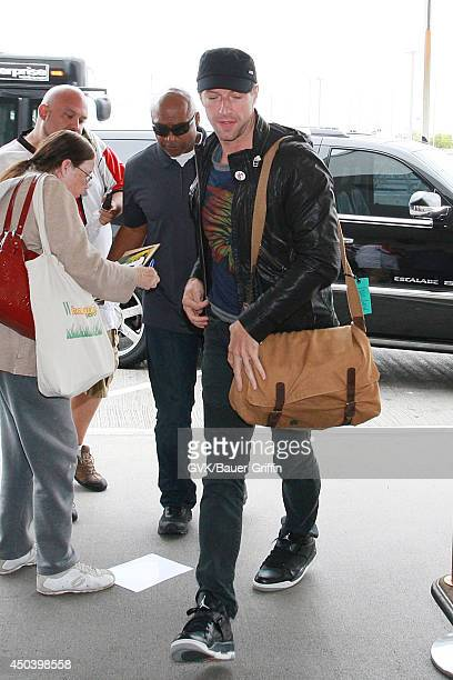 Chris Martin seen at LAX on June 10 2014 in Los Angeles California