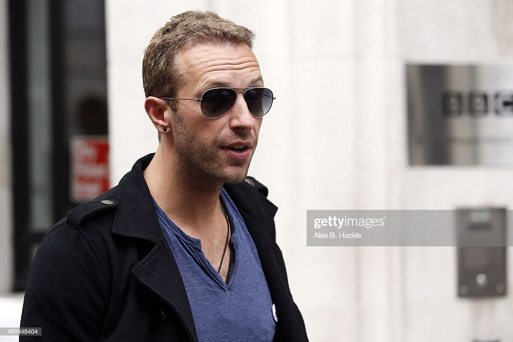 <a gi-track='captionPersonalityLinkClicked' href=/galleries/search?phrase=Chris+Martin+-+Musician&family=editorial&specificpeople=4468181 ng-click='$event.stopPropagation()'>Chris Martin</a> seen leaving the BBC Radio 2 Studios on July 1 2014 in London, England.