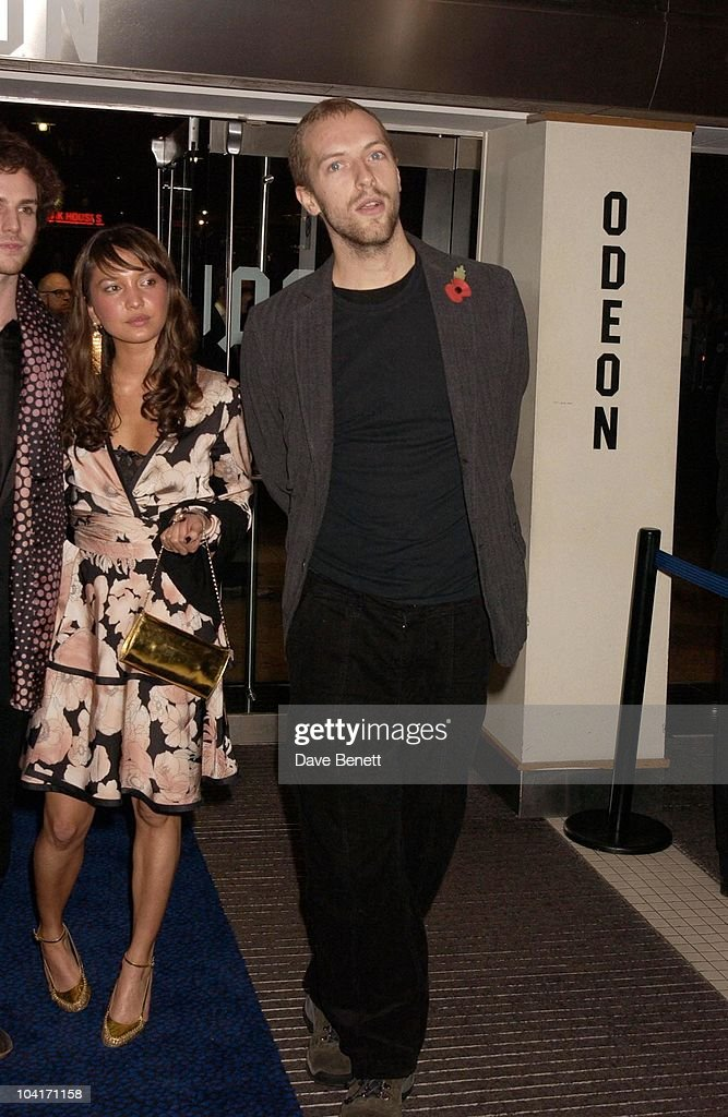 Chris Martin (cold Play), Sylvia Movie Screening Starring Gwyneth Paltrow At The Closing Gala Of The London Film Festival, At The Odeon, Leicester Square, London