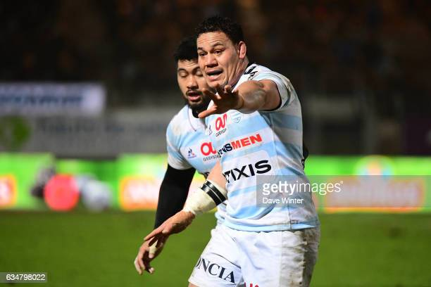 Chris Masoe of Racing 92 during the Top 14 match between Racing 92 and Aviron Bayonnais Bayonne on February 11 2017 in Colombes France