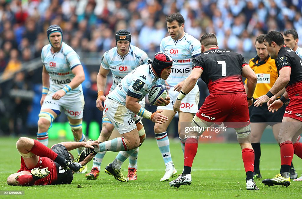 <a gi-track='captionPersonalityLinkClicked' href=/galleries/search?phrase=Chris+Masoe&family=editorial&specificpeople=540337 ng-click='$event.stopPropagation()'>Chris Masoe</a> of Racing 92 runs with the ball during the European Rugby Champions Cup Final match between Racing 92 and Saracens at the Stade de Lyon on May 14, 2016 in Lyon, France.