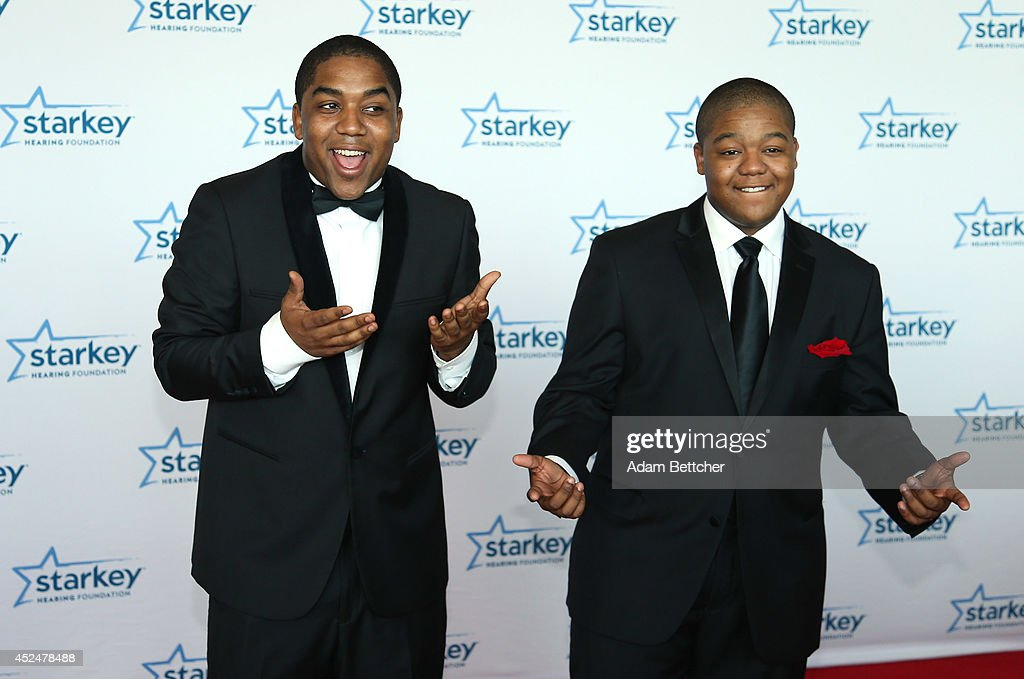 Chris Massey and Kyle Massey walk the red carpet at the 2014 Starkey Hearing Foundation So The World May Hear Gala at the St Paul RiverCentre on July...
