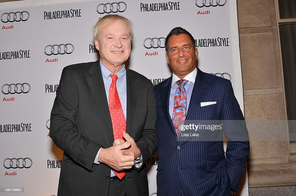<a gi-track='captionPersonalityLinkClicked' href=/galleries/search?phrase=Chris+Matthews+-+Television+Personality&family=editorial&specificpeople=651505 ng-click='$event.stopPropagation()'>Chris Matthews</a> and John Kushnir, CFO of Niche Media pose on the red carpet during Philadelphia Style Magazine Cover Event Hosted By <a gi-track='captionPersonalityLinkClicked' href=/galleries/search?phrase=Chris+Matthews+-+Television+Personality&family=editorial&specificpeople=651505 ng-click='$event.stopPropagation()'>Chris Matthews</a> on November 19, 2012 in Philadelphia, Pennsylvania.