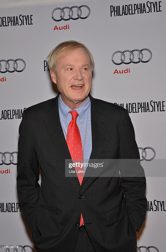 <a gi-track='captionPersonalityLinkClicked' href=/galleries/search?phrase=Chris+Matthews+-+Television+Personality&family=editorial&specificpeople=651505 ng-click='$event.stopPropagation()'>Chris Matthews</a> poses on the red carpet during Philadelphia Style Magazine Cover Event Hosted By <a gi-track='captionPersonalityLinkClicked' href=/galleries/search?phrase=Chris+Matthews+-+Television+Personality&family=editorial&specificpeople=651505 ng-click='$event.stopPropagation()'>Chris Matthews</a> on November 19, 2012 in Philadelphia, Pennsylvania.