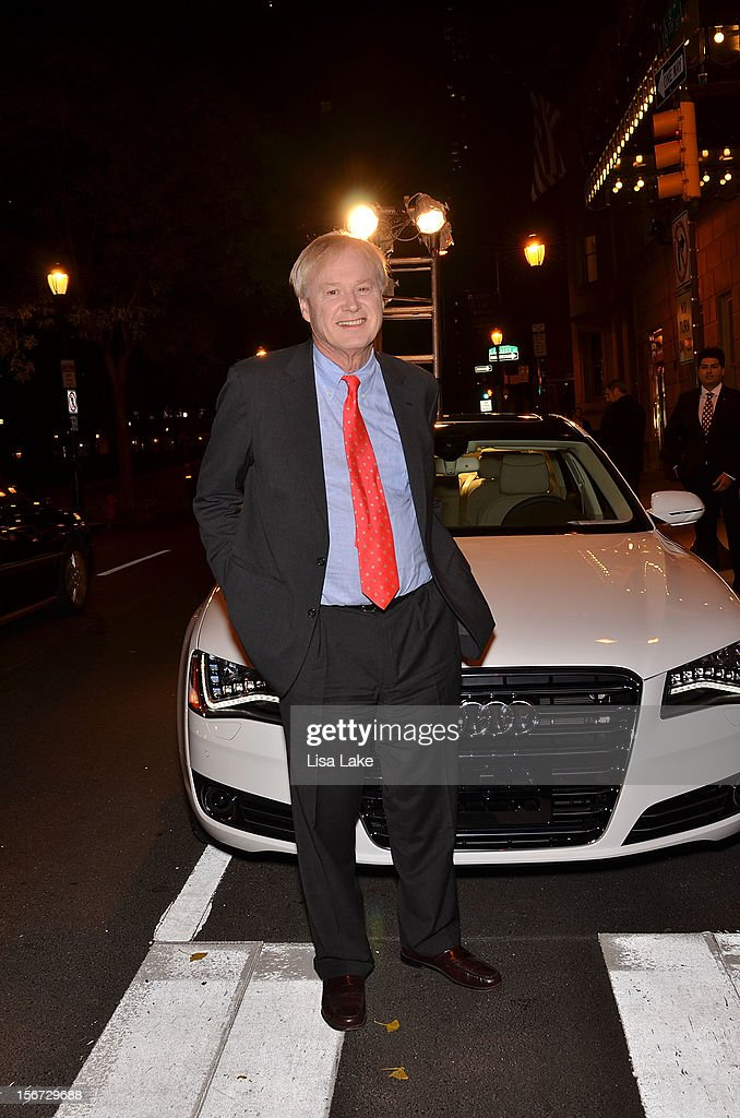 <a gi-track='captionPersonalityLinkClicked' href=/galleries/search?phrase=Chris+Matthews+-+Television+Personality&family=editorial&specificpeople=651505 ng-click='$event.stopPropagation()'>Chris Matthews</a> poses with an Audi in front of Barclay Prime Restaurant during Philadelphia Style Magazine Cover Event Hosted By <a gi-track='captionPersonalityLinkClicked' href=/galleries/search?phrase=Chris+Matthews+-+Television+Personality&family=editorial&specificpeople=651505 ng-click='$event.stopPropagation()'>Chris Matthews</a> on November 19, 2012 in Philadelphia, Pennsylvania.