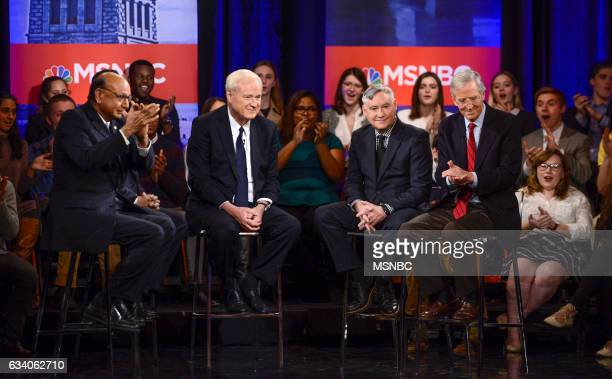 MATTHEWS Chris Matthews Town Hall at American University Pictured Khizr Khan Chris Matthews John Brabender and Evan Thomas