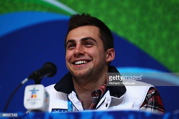 Chris Mazdzer attends the United States Olympic Committee Luge Singles Press Conference at the Whistler Media Centre on February 9 2010 in Vancouver...