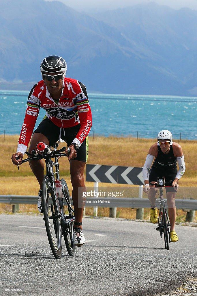 Chris McCormack of Australia competes in the Challenge Wanaka on January 19, 2013 in Wanaka, New Zealand.