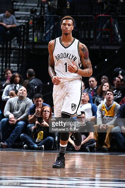Chris McCullough of the Brooklyn Nets during the game against the Denver Nuggets on February 8 2016 at Barclays Center in Brooklyn New York NOTE TO...