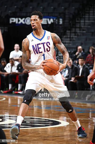 Chris McCullough of the Brooklyn Nets handles the ball against the Windy City Bulls on November 29 2016 at Barclays Center in Brooklyn NY NOTE TO...