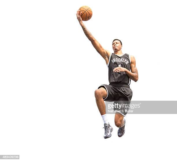 Chris McCullough of the Brooklyn Nets poses for a photo during the 2015 NBA Rookie Shoot on August 8 2015 at the Madison Square Garden Training...