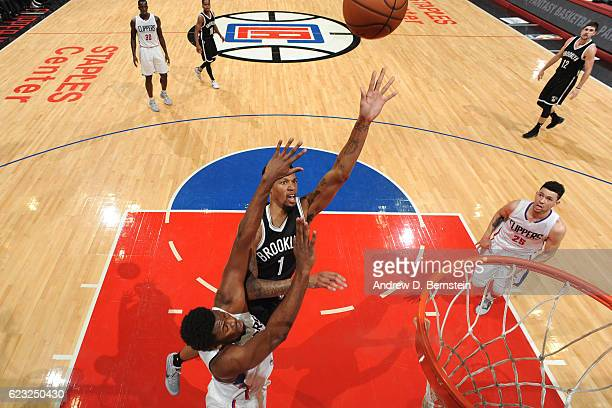 Chris McCullough of the Brooklyn Nets shoots the ball against the Los Angeles Clippers on November 14 2016 at STAPLES Center in Los Angeles...