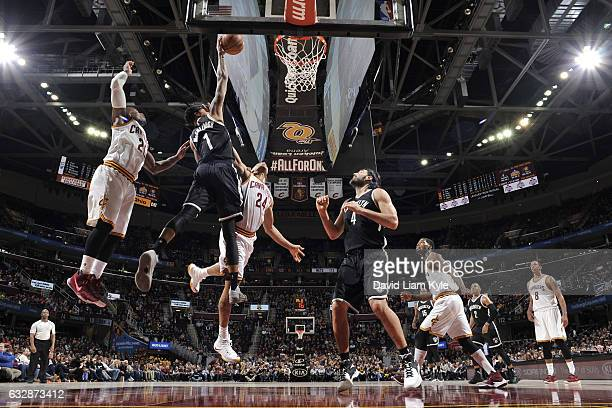 Chris McCullough of the Brooklyn Nets shoots the ball against the Cleveland Cavaliers on January 27 2017 at Quicken Loans Arena in Cleveland Ohio...