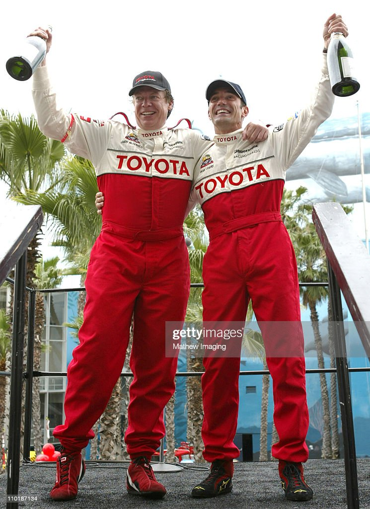 Chris McDonald and Max Papis during 28th Annual Toyota Pro/Celebrity Race Race Day at Streets of Long Beach in Long Beach California United States