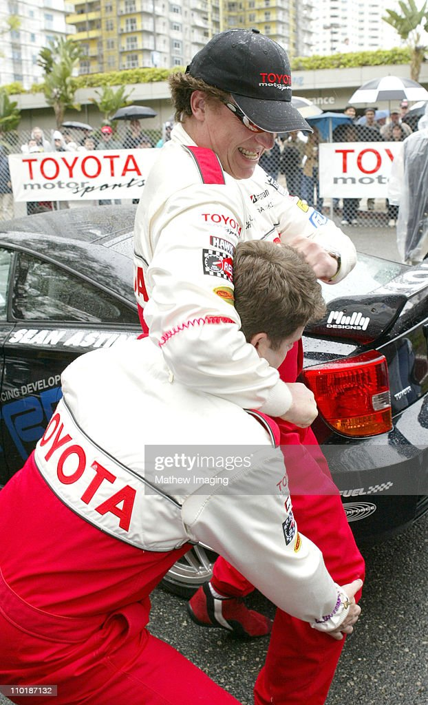 Chris McDonald and Sean Astin during 28th Annual Toyota Pro/Celebrity Race Race Day at Streets of Long Beach in Long Beach California United States