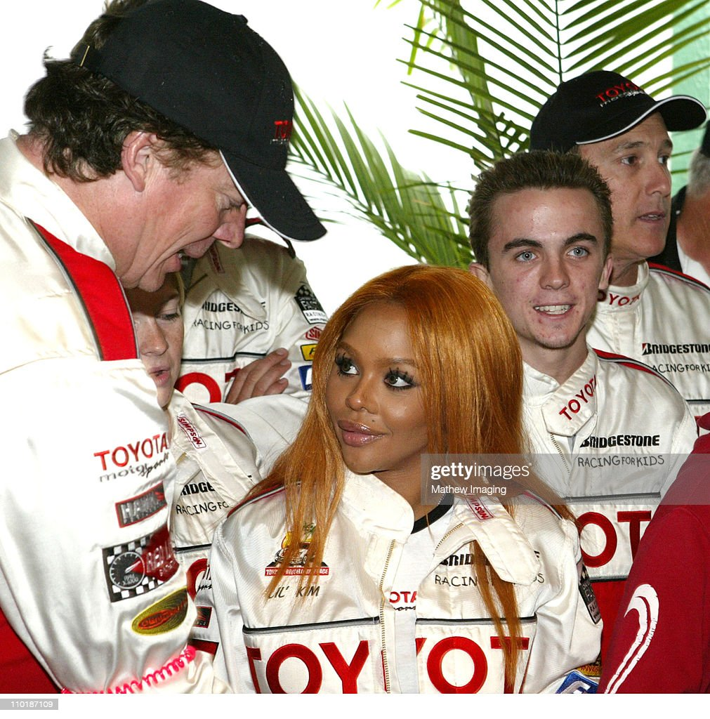 Chris McDonald Lil' Kim and Frankie Muniz during 28th Annual Toyota Pro/Celebrity Race Race Day at Streets of Long Beach in Long Beach California...