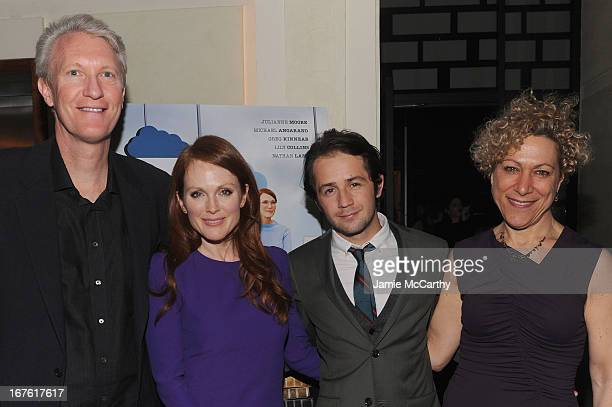 Chris McGurk CEO of Cinedigm Actress Julianne Moore Michael Angarano and Susan Margolin attend 'The English Teacher' After Party during the 2013...