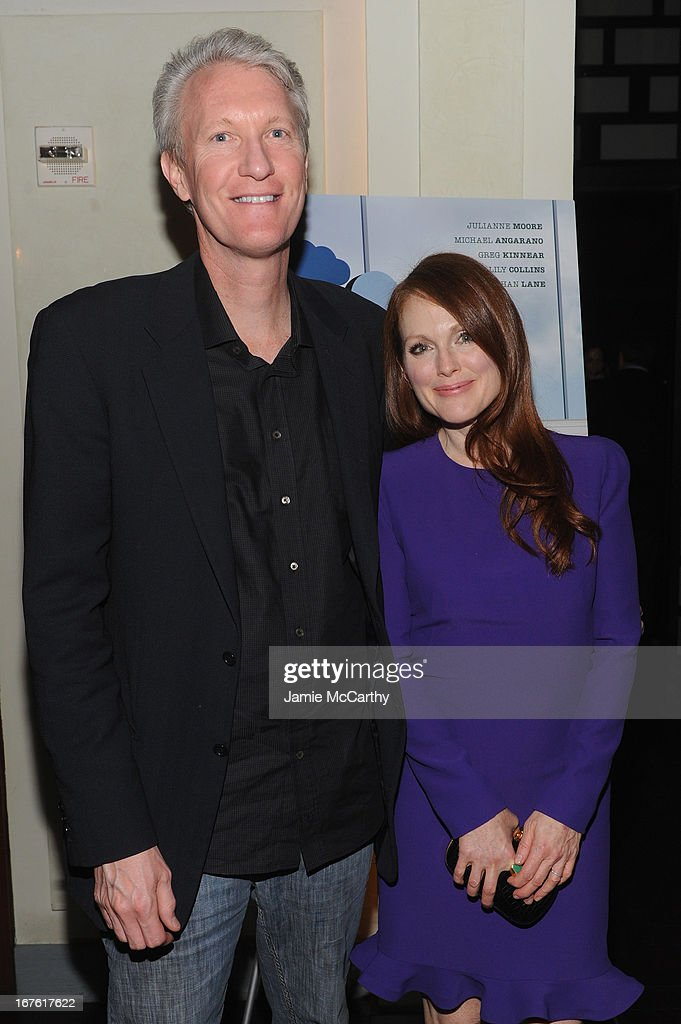 <a gi-track='captionPersonalityLinkClicked' href=/galleries/search?phrase=Chris+McGurk&family=editorial&specificpeople=206407 ng-click='$event.stopPropagation()'>Chris McGurk</a>, CEO of Cinedigm and actress <a gi-track='captionPersonalityLinkClicked' href=/galleries/search?phrase=Julianne+Moore&family=editorial&specificpeople=171555 ng-click='$event.stopPropagation()'>Julianne Moore</a> attend 'The English Teacher' After Party during the 2013 Tribeca Film Festival on April 26, 2013 in New York City.