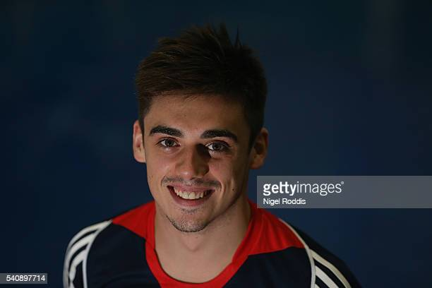 Chris Mears of Britain poses for a picture as the Team GB diving team is announced for the Rio 2016 Olympic Games at the John Charles Centre on June...