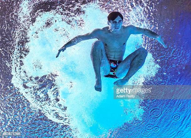 Chris Mears of Great Britain competes in the Men's 3m Springboard Diving on day six of the 16th FINA World Championships at the Aquatics Palace on...