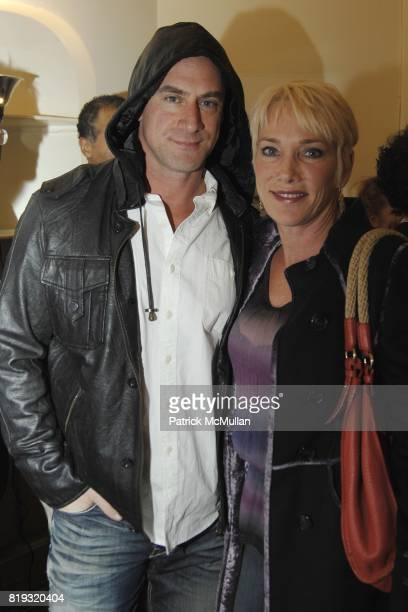 Chris Meloni and Sherman Meloni attend PETER HALPERT FINE ART Gallery presents 600 Polaroids by MIKAEL KENNEDY at Chelsea Hotel on April 14 2010 in...