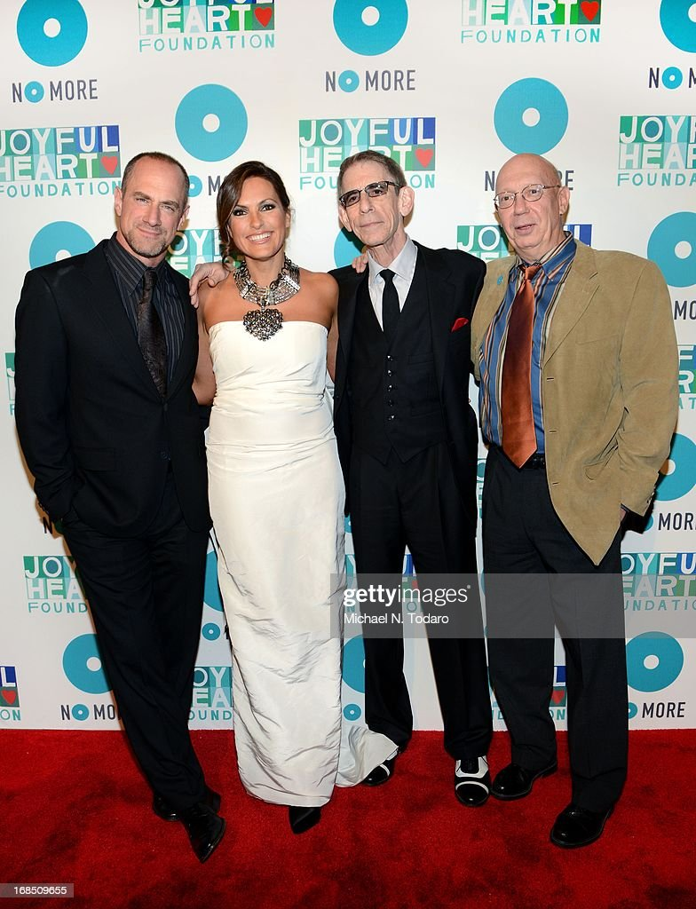 Chris Meloni, <a gi-track='captionPersonalityLinkClicked' href=/galleries/search?phrase=Mariska+Hargitay&family=editorial&specificpeople=204727 ng-click='$event.stopPropagation()'>Mariska Hargitay</a>, <a gi-track='captionPersonalityLinkClicked' href=/galleries/search?phrase=Richard+Belzer&family=editorial&specificpeople=206227 ng-click='$event.stopPropagation()'>Richard Belzer</a> and Dan Florek attend the 2013 Joyful Heart Foundation gala at Cipriani 42nd Street on May 9, 2013 in New York City.