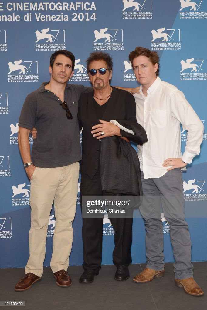 Chris Messina Al Pacino and David Gordon Green attend the 'Manglehorn' photocall during the 71st Venice Film Festival on August 30 2014 in Venice...