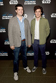 Chris Miller and Phil Lord directors of 'Untitled Han Solo Star Wars Story' attends the Star Wars Celebration 2016 at ExCel on July 17 2016 in London...