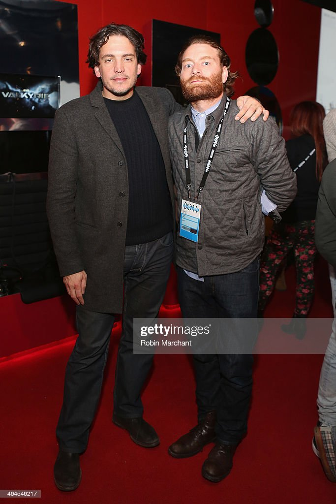 Chris Mills and guest attend the New Frontier Party For Filmmakers at New Frontier during the 2014 Sundance Film Festival on January 22 2014 in Park...
