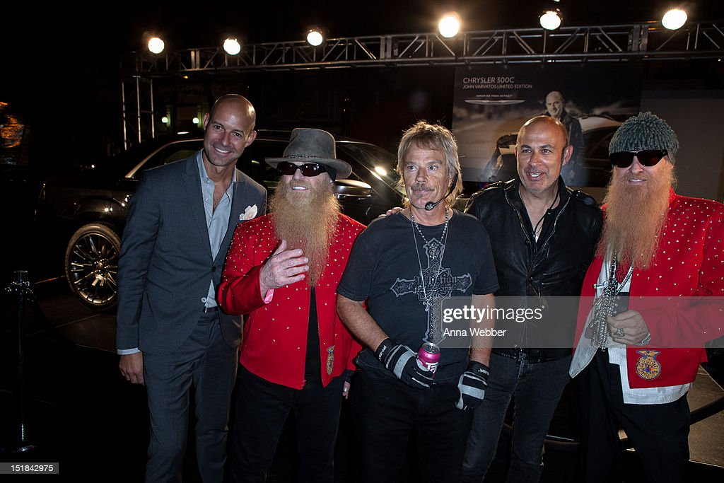 Chris Mitchell, Frank Beard, Dusty Hill, John Varvatos and Billy Gibbons attend GQ, Chrysler, And John Varvatos Celebrate The Launch Of The 2013 Chrysler 300C>> on September 11, 2012 in New York City.