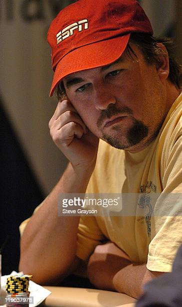 Chris Moneymaker takes part in day one of the World Poker Tour's Doyle Brunson North American Poker Championship at the Bellagio Hotel in Las Vegas...