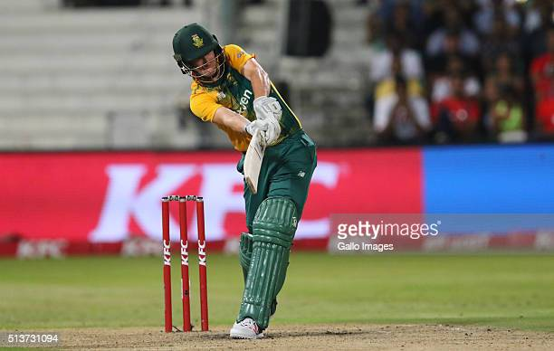 Chris Morris during the 1st KFC T20 International match between South Africa and Australia at Sahara Stadium Kingsmead on March 04 2016 in Durban...