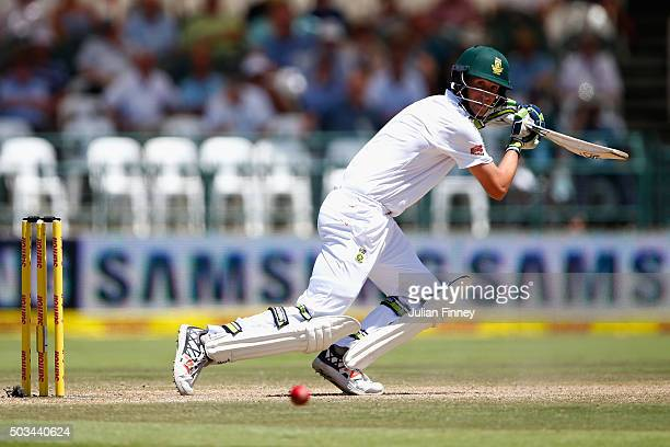 Chris Morris of South Africa bats during day four of the 2nd Test at Newlands Stadium on January 5 2016 in Cape Town South Africa