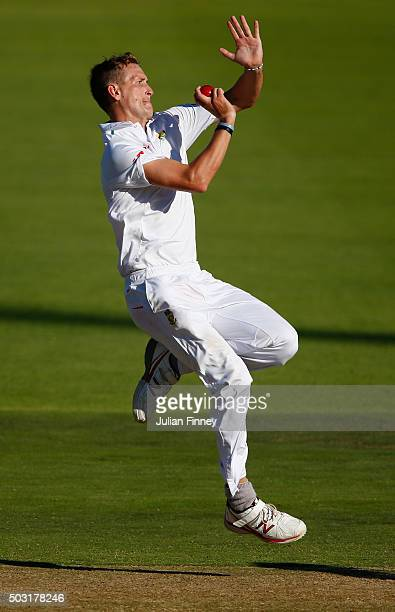 Chris Morris of South Africa bowls during day one of the 2nd Test at Newlands Stadium on January 2 2016 in Cape Town South Africa