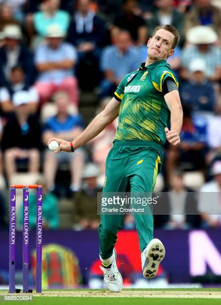 Chris Morris of South Africa bowls during the Royal London ODI match between England and South Africa at The Ageas Bowl on May 27 2017 in Southampton...