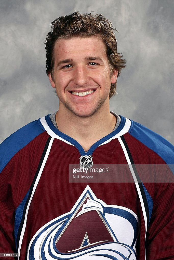 Chris Mueller of the Colorado Avalanche poses for his official headshot for the 20082009 NHL season
