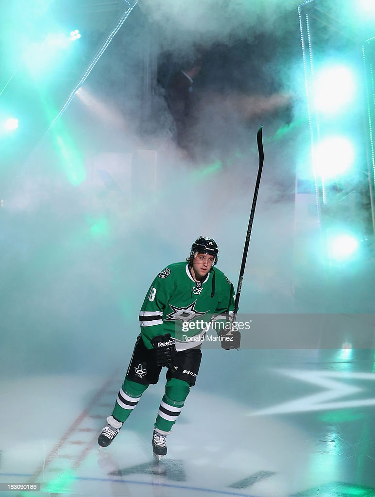 Chris Mueller of the Dallas Stars at American Airlines Center on October 3 2013 in Dallas Texas