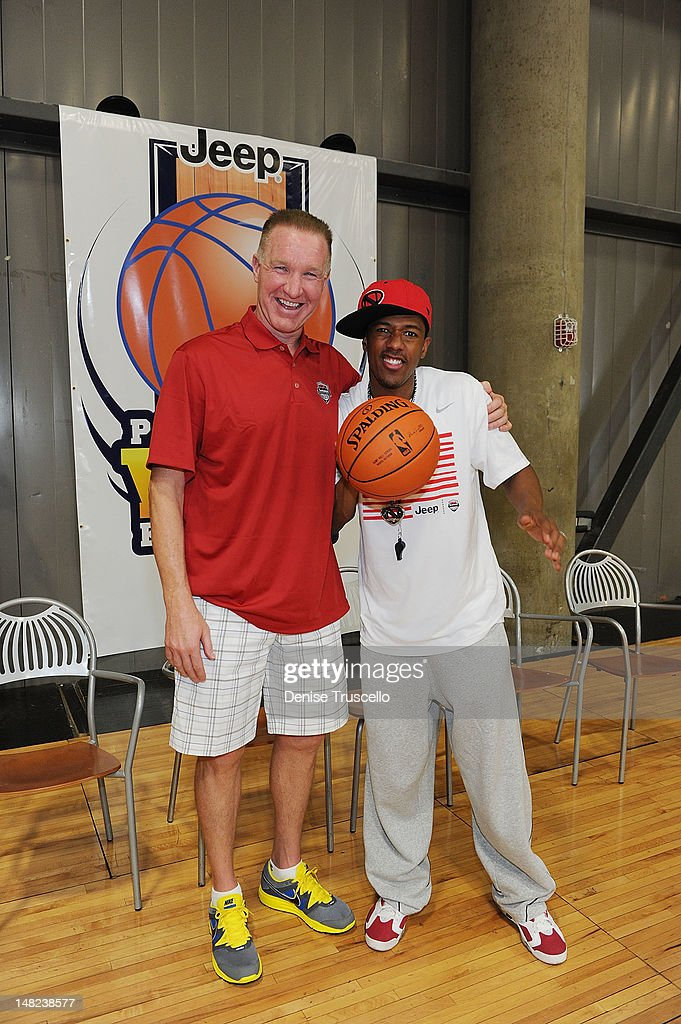 <a gi-track='captionPersonalityLinkClicked' href=/galleries/search?phrase=Chris+Mullin&family=editorial&specificpeople=206816 ng-click='$event.stopPropagation()'>Chris Mullin</a> and <a gi-track='captionPersonalityLinkClicked' href=/galleries/search?phrase=Nick+Cannon&family=editorial&specificpeople=202208 ng-click='$event.stopPropagation()'>Nick Cannon</a> during the Jalen Rose Leadership Academy Clinic at Impact Basketball on July 12, 2012 in Las Vegas, Nevada.